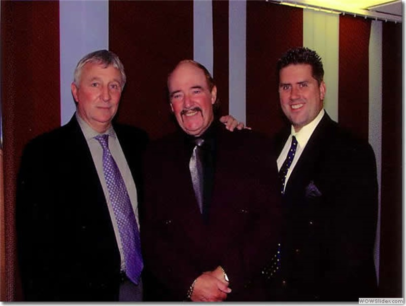 With former Manchester City and England star Mike Summerbee and comedian Mike King