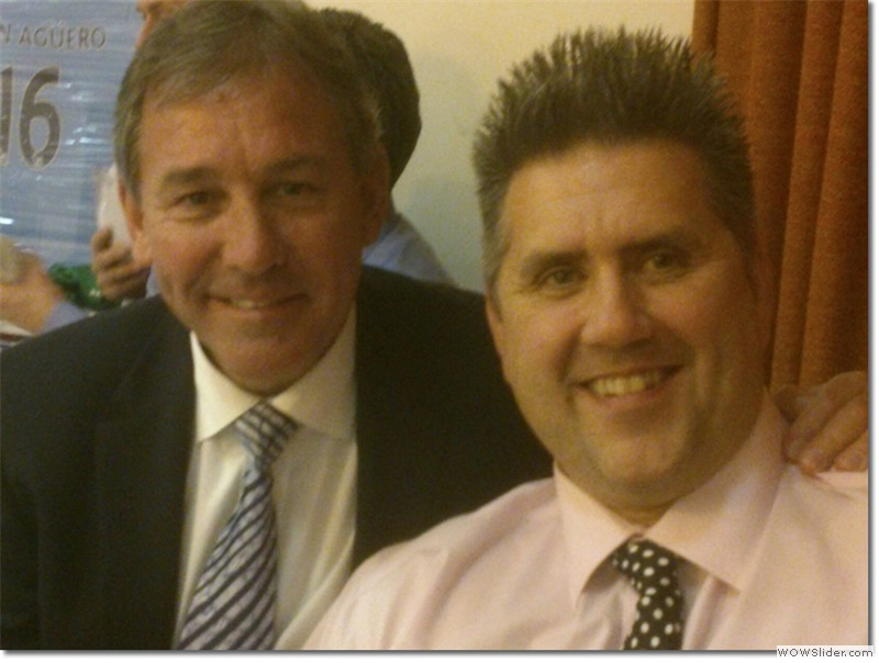 With former Manchester United and England captain Bryan Robson