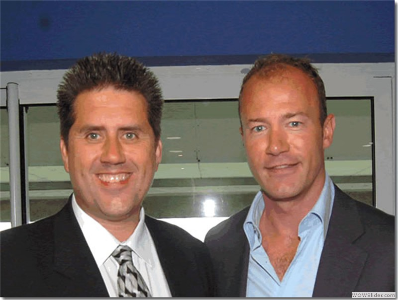 With former Newcastle and England star Alan Shearer